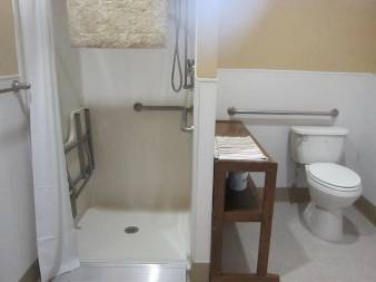 Bathroom facility of our ADA equiped cabin