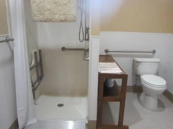 Bathroom facility of our ADA equiped cabin