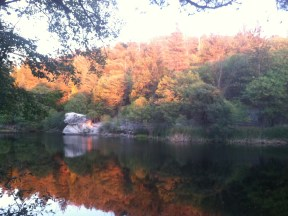 Fall colors reflecting on Lake Fulmor