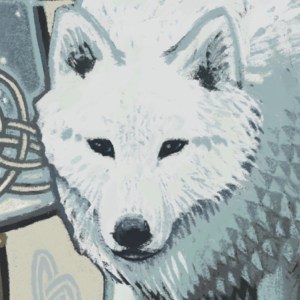 Helen's wolf detail