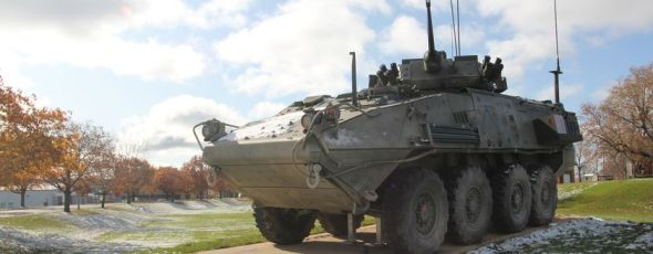 A new light armoured vehicle monument to honour those who served in Afghanistan is seen at Royal Military College The Kingston Whig-Standard   James Alexander Michie
