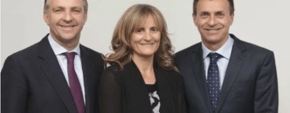 Karen Malone, managing director of Centaur, with her founding partners Ronan Daly (left) and Eric Bertrand The Irish Times | James Alexander Michie