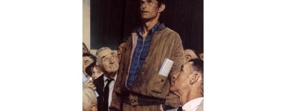 Norman Rockwell Freedom of Speech 1943 The Boston Globe | James Alexander Michie