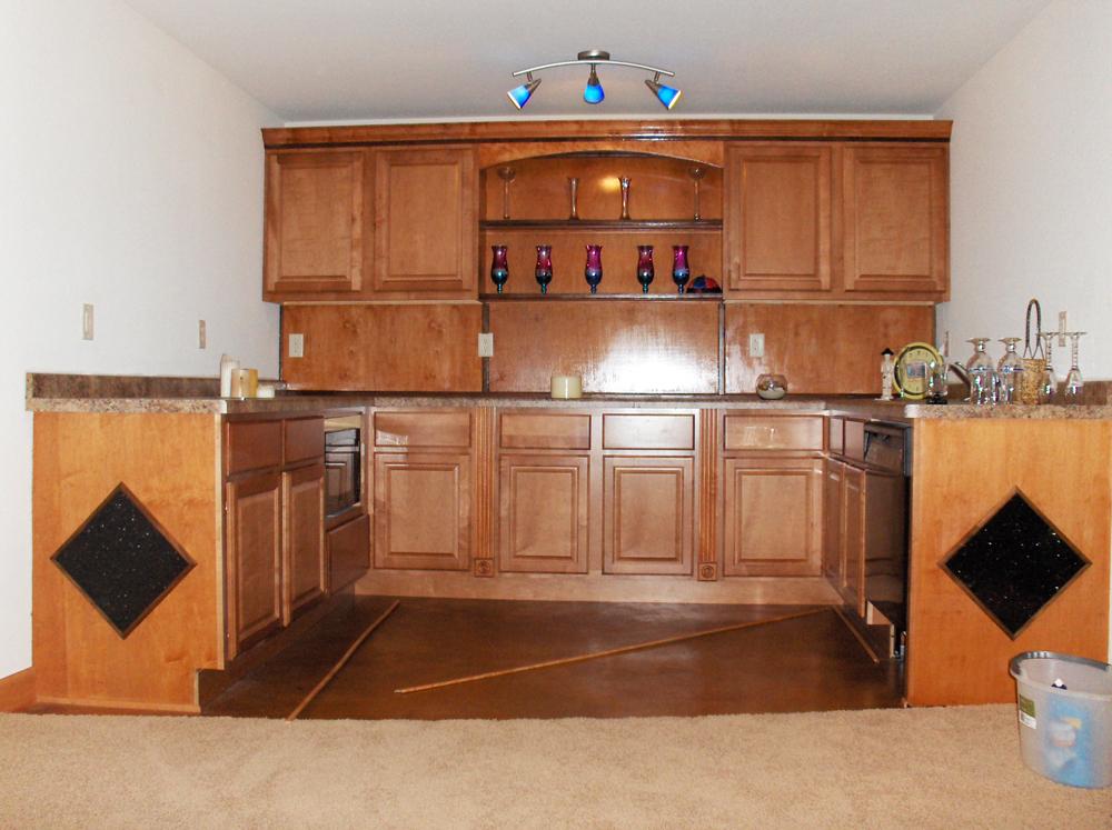 Custom Millwork Basement Bar | James Allen Builders | Wisconsin
