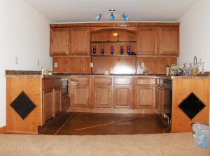 Custom Millwork Basement Bar | James Allen Builders | Wisconsin