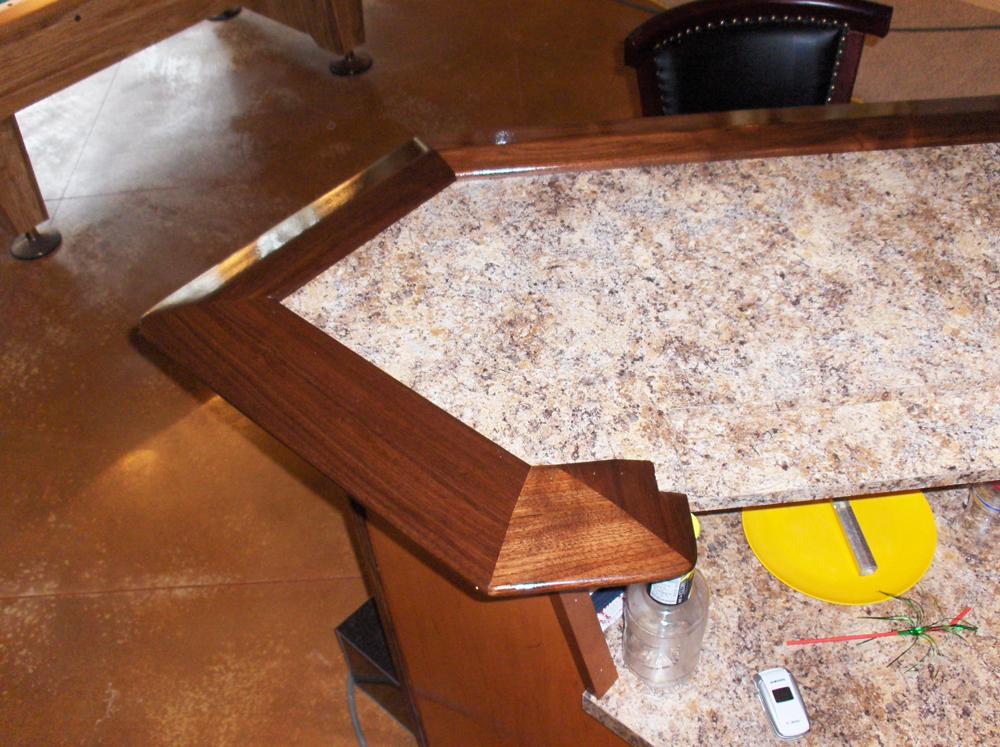 Custom Bar Detail | James Allen Builders | Southeast Wisconsin