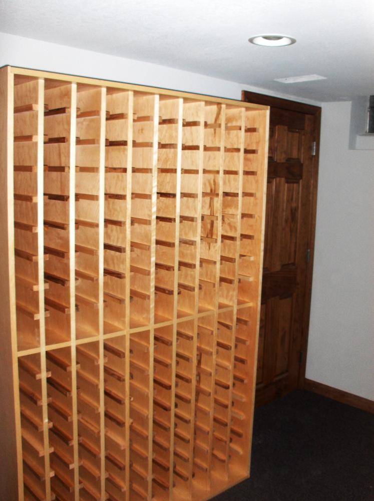 Custom Built Wine Rack | James Allen Builders | Milwaukee, WI
