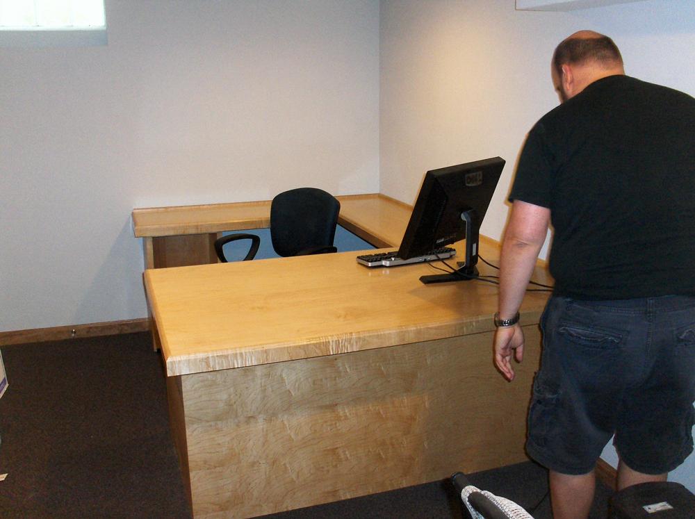 Custom Millwork Desk | Home Office | James Allen Builders