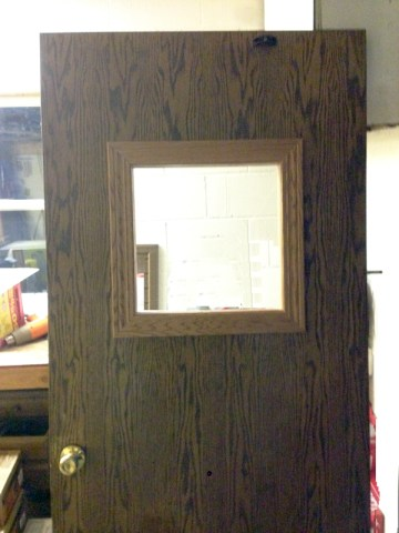 Office Door With New Window | Experienced Contractor | James Allen Builders