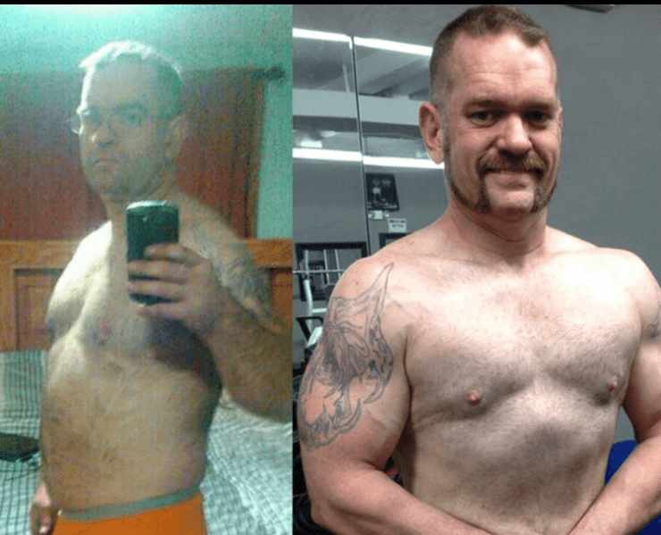 dan's weight loss and muscle building transformations