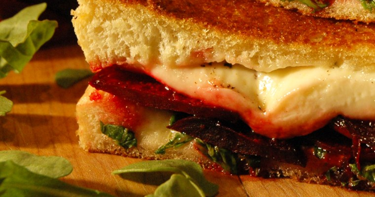 Grilled Beet and Goat Cheese Sandwich