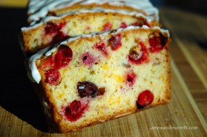Cranberry cheddar quick bread