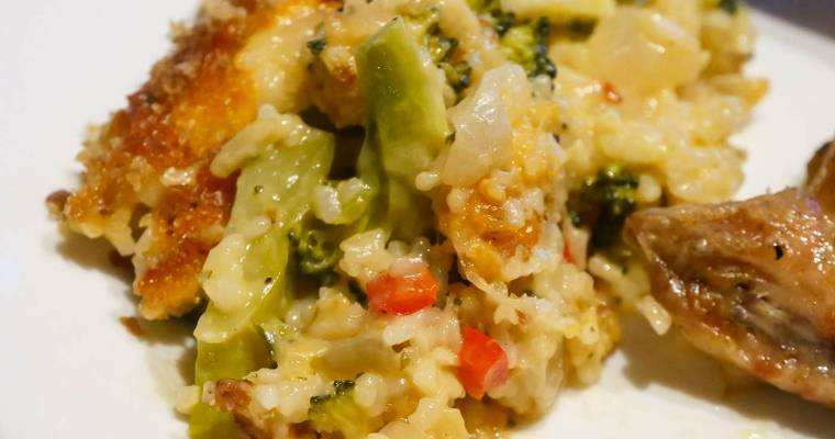 Cheesy Broccoli Rice Casserole