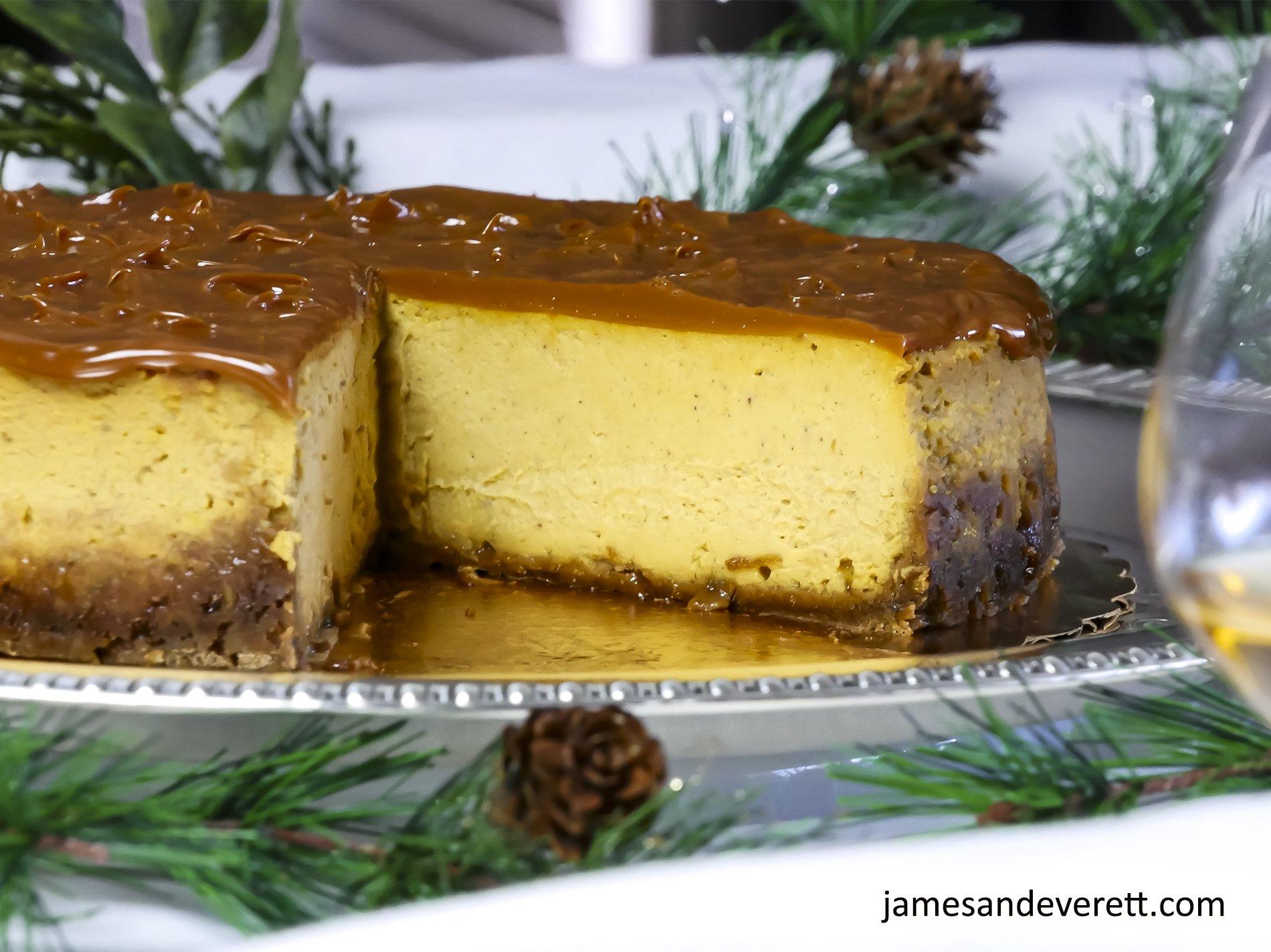 Dulche de Leche Pumpkin Cheesecake
