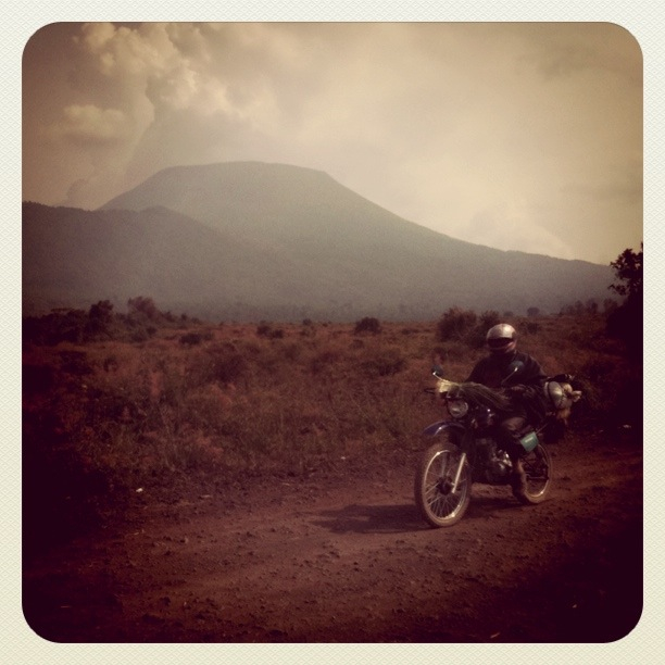 Volcano in Goma, Democratic Republic of Congo