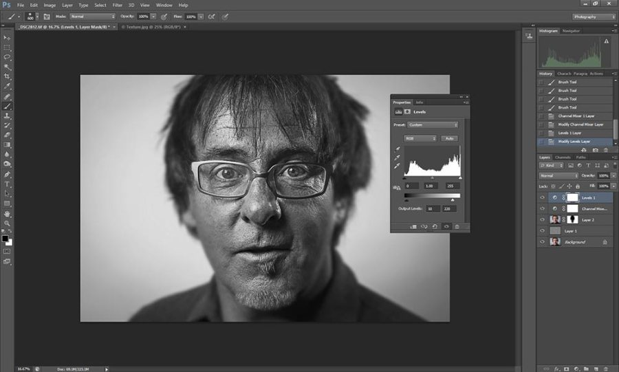 Wet plate collodion effect in Photoshop tutorial step 5