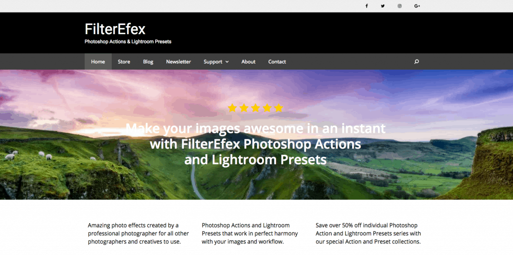 FilterEfex Photoshop Actions Summer Sale