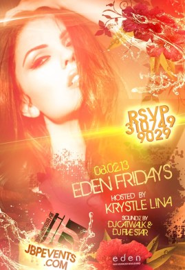 Super model Krystle Lina Hosts Eden Hollywood Friday, August 2nd 2013