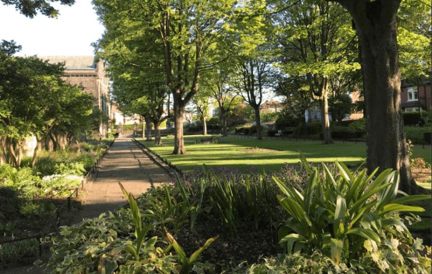 Gardens at St. James' and St. Basil's Church Fenham