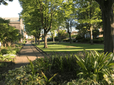 Gardens at St. James' and St. Basil's Church Fenham