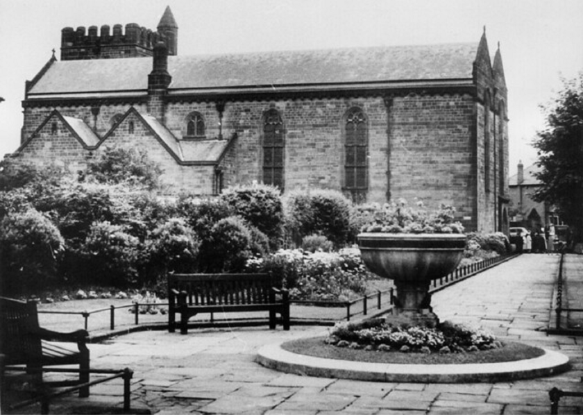 St James and St Basils Church black and white