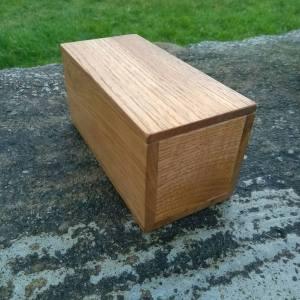 Wooden butter box, butter dish