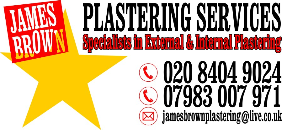 Plastering services London and surrey, James Brown Plastering