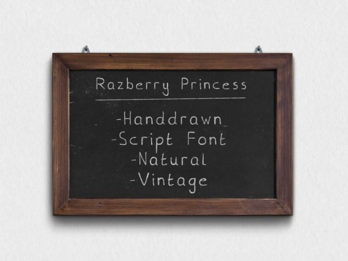 Razberry-Princess-Chalkboard-PSD-MockUp