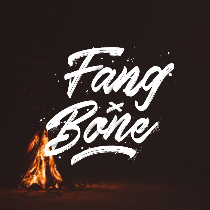 Fang + Bone - Brush Lettering