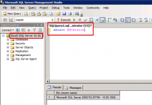 Identifying Microsoft SQL Server version using Microsoft SQL Server Management Studio