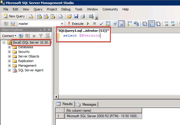 Identifying your SQL server version using SQL Server