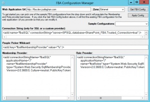 FBA Configuration Manager