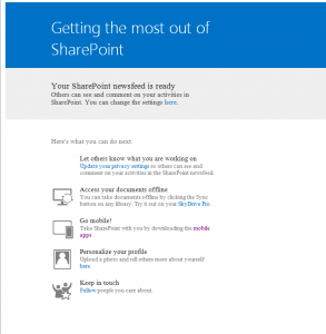 MySite Setup. Credit: Sudhit Kesharwani http://sharepoint.stackexchange.com/questions/72530/sharepoint-mysite-changing-the-notification-email