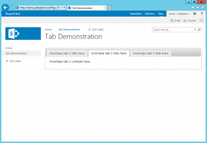Tabs demonstration