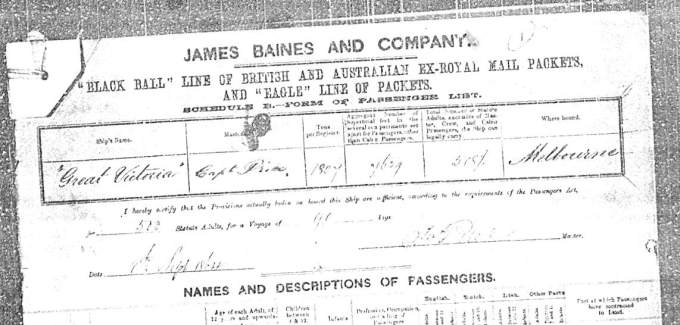 Great Victoria Shipping Records #1