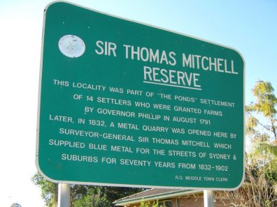 Sir Thomas Mitchell Reserve, The Ponds, Sydney