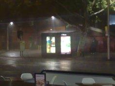 The rain tumbles down...