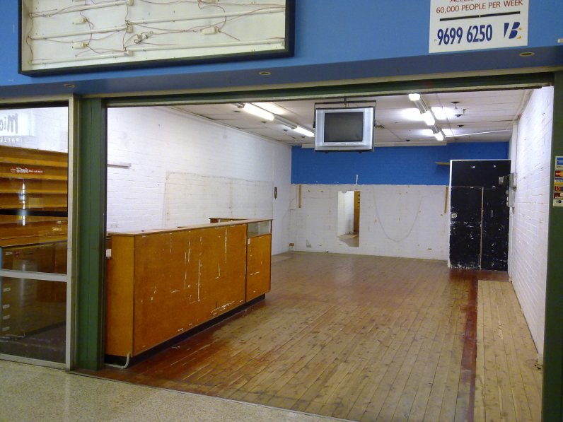 The former record store at Surry Hills Shopping Centre