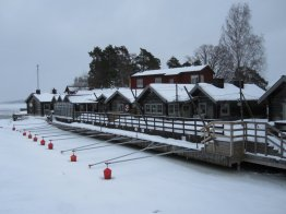 Stockholm winter tour - iced in jetty