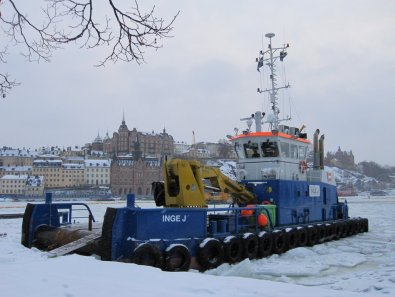 Ice breaker looking towards Sodermalm