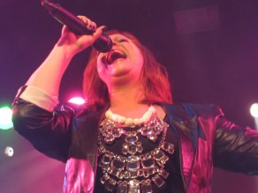 Shirley Clamp in full vocal flight