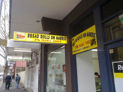 The bread shop on Harris Street