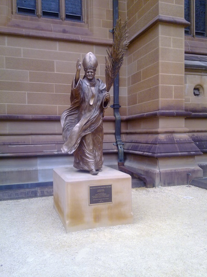 Pope John Paul The Great at St Marys Cathedral in Sydney