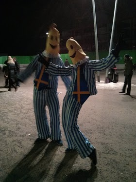 Bananas in Pyjamas at Melodifestivalen