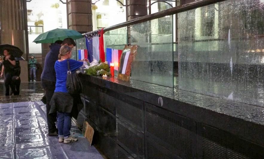 French vigil at Sydney Opera House
