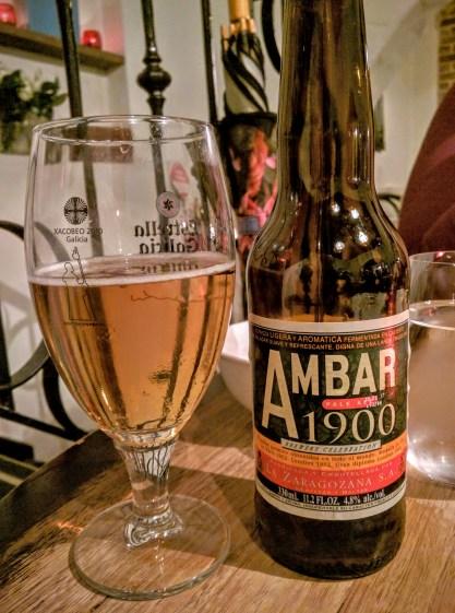 Argentinian beer for Dinner at Porteño
