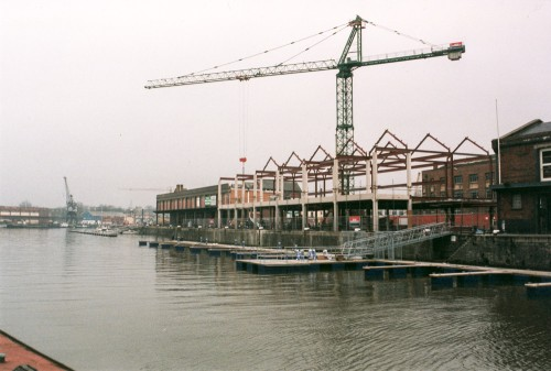 Construction in the Bristol Harbourside