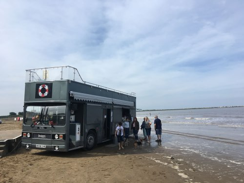 Bus in the sea