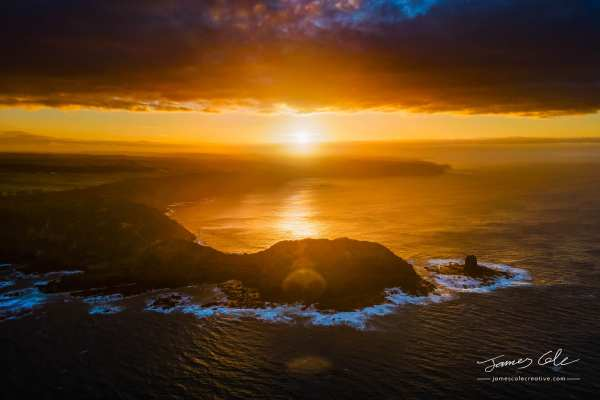 Early morning sunrise over the epic rocky ocean view of Cape Schanck in Victoria Australia