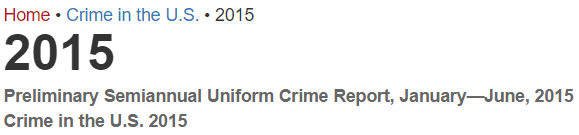 2015 Crime in the United States -- Getting Ready to Go